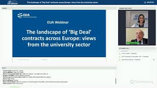 Download EUA webinar: The landscape of 'Big Deal' contracts across Europe: views from the university sector Video