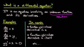 Download ODE   What is a differential equation? Video
