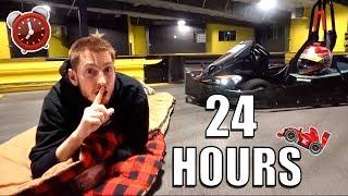 Download 24 HOUR OVERNIGHT CHALLENGE IN GO KART TRACK! Video