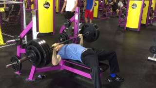 Download FREE WEIGHT BENCH @ Planet Fitness - 385 RAW PAUSED BENCH @ 152 body weight Video