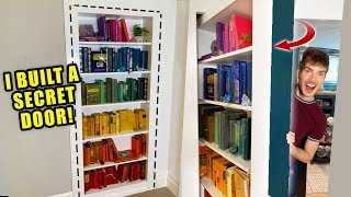 Download I Built A Secret Bookshelf Door In My House Video