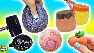 Download Cutting Open Squishy Toys! ALL Homemade! Surprise Squishy Pudding Stress Balls Doctor Squish Video