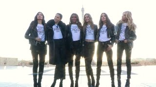 Download Victoria s Secret Lily Aldridge, Jasmine Tookes, Adriana Lima and more at the Eiffel Tower - Part 2 Video