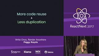 Download Peggy Rayzis: Write Once, Render Anywhere — ReactNext 2017 Video