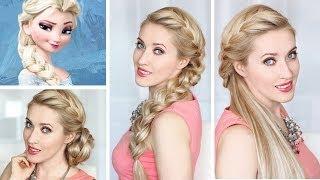 Download Tresse africaine sur le coté - Tuto coiffure d'Elsa de la Reine des Neiges, demi chignon Video