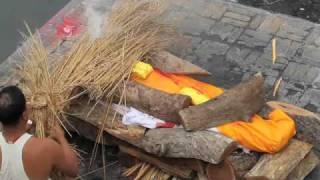 Download Hindu Cremations at Pashupatinath Temple in Kathmandu Nepal Video