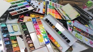 Download Watercolor Palette Tour // All of my palettes and tubes!!! Video
