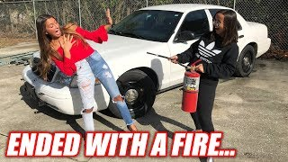 Download Girlfriend vs. Girlfriend Burnout Contest... Literally Started a Forest Fire Video