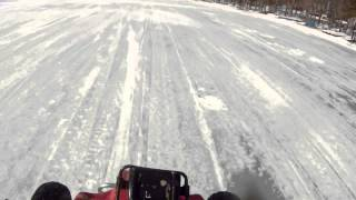 Download Atv runs from cop on snowmobile Video