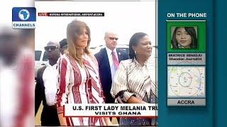 Download U.S. First Lady Melania Trump Visits Ghana | Network Africa | Video
