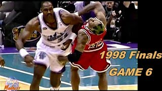 Download Karl Malone vs Dennis Rodman 1998 Finals Game 6! Wrestling Game & 6th Championship! Video