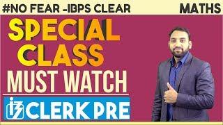 Download IBPS CLERK PRE | Special Class For IBPS Clerk Pre | Maths | Arun Sir Video