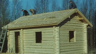 Download Traditional Finnish Log House Building Process - 16mm Film Scan - English Version Video