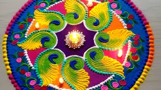 Download Beautiful FESTIVAL'S rangoli designs with colours Video
