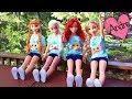 Download Elsa Anna Rapunzel y Ariel muñecas grandes van de excursión!!! Juguetes con Andre Video