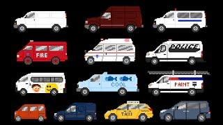 Download Vans - Street, Commercial & Emergency Vehicles - The Kids' Picture Show (Fun & Educational) Video