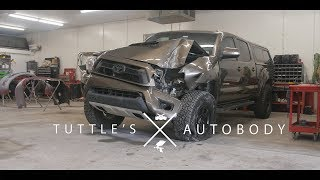 Download Toyota Tacoma vs Telephone pole | Rebuild by Tuttles Autobody | 4k Video