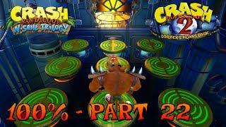 Download Crash Bandicoot 2 - N. Sane Trilogy - 100% Walkthrough, Part 22: Tiny Tiger Video
