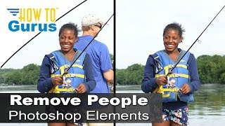 Download How to Remove People and Objects from a Photo in Adobe Photoshop Elements 15 14 13 12 11 Tutorial Video