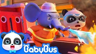 Download Super Panda Guardians | Rescue Elephant's Nose | Kids Cartoons | BabyBus Video