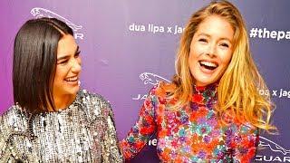 Download Dua Lipa Supermodel Doutzen Kroes Talk Driving World Premiere 2019 Dua Lipa x Jaguar Electric CARJAM Video