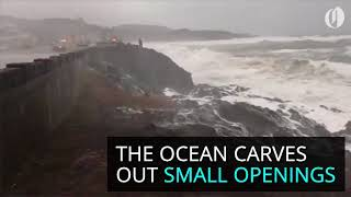 Download Spouting Horns on the Oregon Coast Video