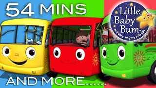 Download Wheels On The Bus | Plus Lots More Nursery Rhymes | 54 Minutes Compilation from LittleBabyBum! Video