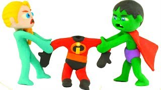 Download SUPERHERO BABIES WEAR THE INCREDIBLES SUITS ❤ SUPERHERO PLAY DOH CARTOONS FOR KIDS Video
