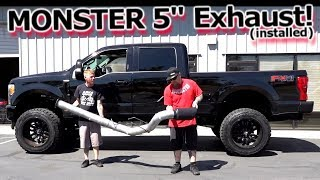 Download MONSTER 5″ Exhaust Installed - Banks Power DPF Back 2017 Ford F250 Superduty Video