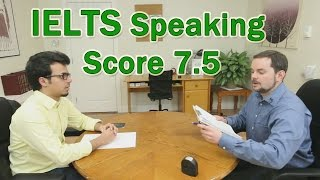 Download IELTS Speaking Example Arabic Learner Score 7.5 Video