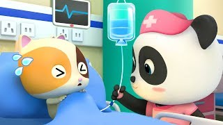 Download Baby Kitten Has a Fever | Baby Panda Nurse | Pretend Play with Doctor Toys | Kids Song | BabyBus Video
