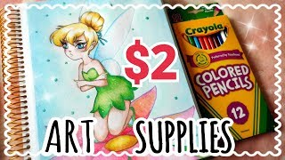 Download CHEAP ART SUPPLIES CHALLENGE || $2 Crayola Pencils! Video