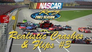 Download NASCAR Racing 2003 Realistic Crashes & Flips #3 Video