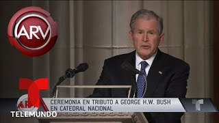 Download Así fue el emotivo funeral de George H.W. Bush | Al Rojo Vivo | Telemundo Video
