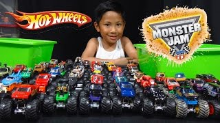 Download Hot Wheels Monster Jam Truck Collection and Truck Loop Race Track Video