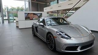 Download 2017 Porsche Exclusive GT Silver Porsche 718 Cayman S 350 hp @ Porsche West Broward Video