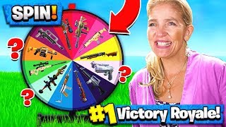 Download MOM SPIN-THE-WHEEL WEAPONS CHALLENGE in FORTNITE! Video