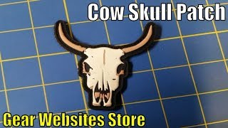 Download Cow Skull Patch - Gear Websites Store - from the Old West Playing Cards - Cool Cowboy Patch Video