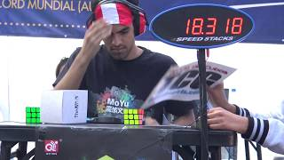 Download Gianfranco Huanqui Former WORLD RECORD Rubik's Cube BLD Single: 18.31 Video