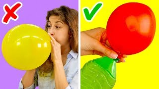 Download 17 AMAZING LIFE HACKS WITH BALLOONS Video