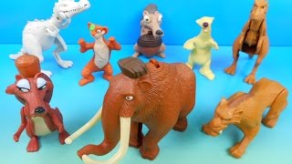 Download 2009 ICE AGE 3 DAWN OF THE DINOSAURS SET OF 8 McDONALD'S HAPPY MEAL MOVIE TOYS VIDEO REVIEW Video
