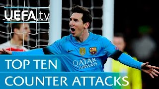Download Top 10 counter attack goals - including Lionel Messi v Arsenal Video