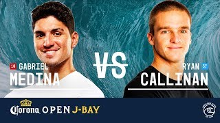 Download Gabriel Medina vs. Ryan Callinan - Round of 16, Heat 2 - Corona Open J-Bay 2019 Video