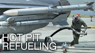 Download F-16 Hot Pit Refueling: Refueling While Jet Engine Running Video