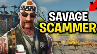 Download Savage Scammer Loses Inventory! 130s, (Scammer Get Scammed) Fortnite Save The World Video