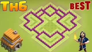 Download Clash of Clans New Town Hall 6 Defense (CoC TH6) BEST Hybrid / Trophy Base Layout 2017 Video
