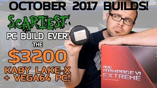Download SCARIEST PC EVER! Kaby Lake-X + VEGA 64 for $3200 - Oct 2017 Builds Video