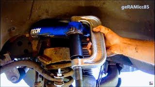 Download BALL JOINTS REPLACEMENT ON DODGE RAM   HOW TO PRESS IN UPPER+LOWER   REMOVE,REPAIR,INSTALL IN DETAIL Video
