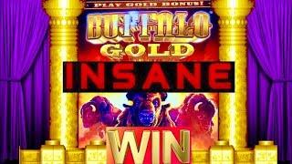 Download ★JACKPOT HANDPAY★BUFFALO GOLD SLOT★HUGE WIN!! ITS AMAZING!! INSANE RETRIGGER! FOUR WINDS CASINO! Video