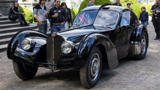 Download Ralph Lauren $40mln Bugatti Type 57 SC Atlantic - 3x Start Up & Drive Scene!! Video